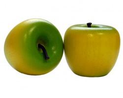 Grüngelber Apfel aus Holz, Kaufladenobst