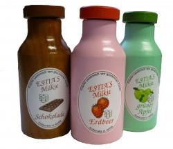 Kaufladenzubehör, Trinkjoghurt Erdbeer aus Holz