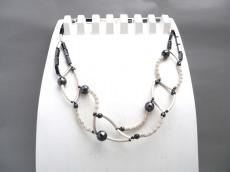 Silberkette Halskette 3D Geometrie Perlen Hämatit Collier