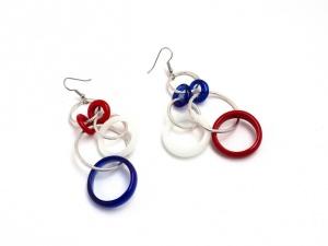 Ohrringe Ringspiel Maritim Blau Weiss Rot Ohrhänger