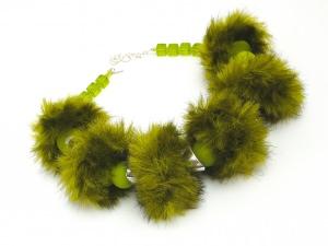 Halsschmuck Fur Boa Limone Exklusiv Edition Handmade