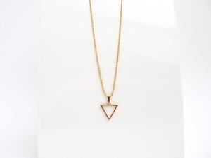 Geometrie Gold Triangel Kugelkette Gold