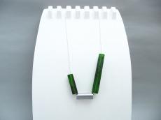 Halskette Vierkant Smaragdgrün Silber Kugelkette
