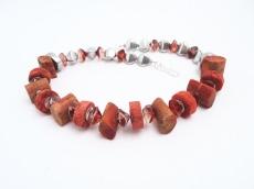 Halsschmuck Ungewöhnlich Koralle Silber Unikat Collier