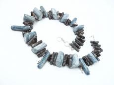 Seeblau Exzentrisch Koralle Blau Unikat Collier verkauft