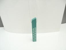Handmade Rectangles Mint Triangle Unikat Silber Kugelkette