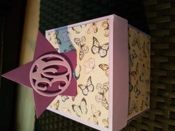Explosionsbox Schmetterlinge aus Papier 10x10cm personalisierbar