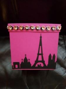 Explosionsbox Paris aus Papier 10x10cm personalisierbar