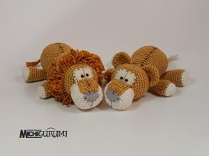 Häkelanleitung: Baby - Löwenpaar