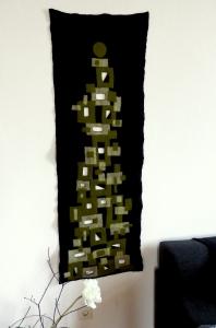 Handgefilztes Filzbild Wandbehang Unikat