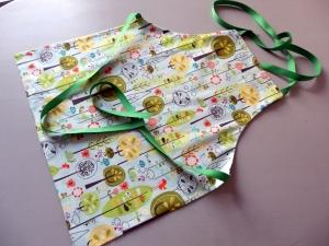 Kinderschürze Wendeschürze Kindergartenschürze   Baumwolle
