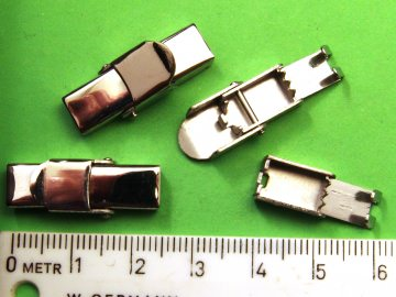 Edelstahl Clip Verschluss ohne Kleben für 6mm (Uhren)Band