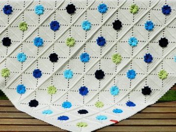 Babydecke *bright flower* No. 1 100% Baumwolle ca. 85 x 85 cm ♥Mäusewerkstatt♥ - Handarbeit kaufen