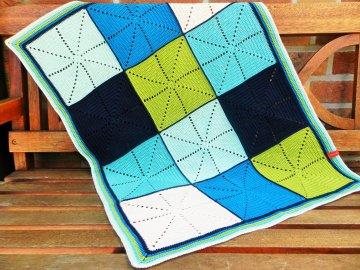 Babydecke *crisscross big* No. 1 100% Baumwolle ca. 64 x 84 cm ♥Mäusewerkstatt♥