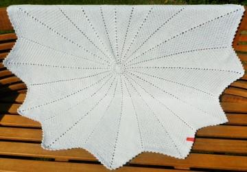 Babydecke *ripple star* uni (No.106) 100% Baumwolle Durchmesser ca. 107 cm ♥Mäusewerkstatt♥