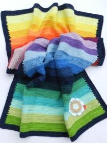 Babydecke *stripes* No. 1 100% Baumwolle ca. 64 x 85 cm ♥Mäusewerkstatt♥