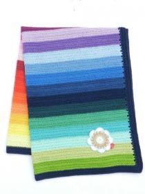 Babydecke *stripes* No. 1 100% Baumwolle ca. 64 x 85 cm ♥ Mäusewerkstatt ♥