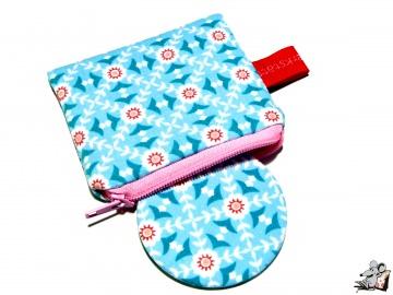 Taschenspiegel-Set*kleine Blümchen* hellblau ♥Mäusewerkstatt♥