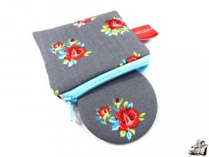 Taschenspiegel-Set *Rosen* grau ♥Mäusewerkstatt♥ - Handarbeit kaufen