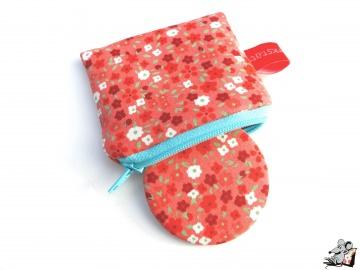 Taschenspiegel-Set *Streublümchen* koralle ♥Mäusewerkstatt♥