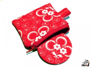 Taschenspiegel-Set *Blumen-Paisley* rot ♥Mäusewerkstatt♥ - Handarbeit kaufen
