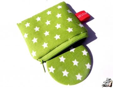 Taschenspiegel-Set *Sternchen* hellgrün ♥Mäusewerkstatt♥
