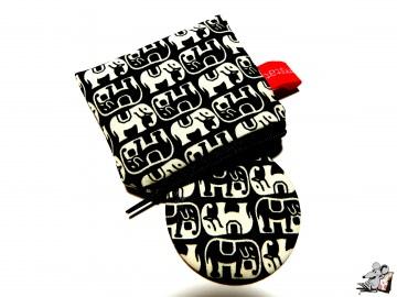 Taschenspiegel-Set *Elefant* schwarz ♥Mäusewerkstatt♥ - Handarbeit kaufen