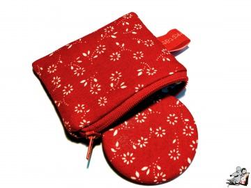 Taschenspiegel-Set *fleur* rot ♥Mäusewerkstatt♥ - Handarbeit kaufen