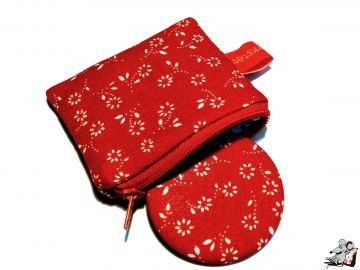 Taschenspiegel-Set *fleur* rot ♥ Mäusewerkstatt ♥
