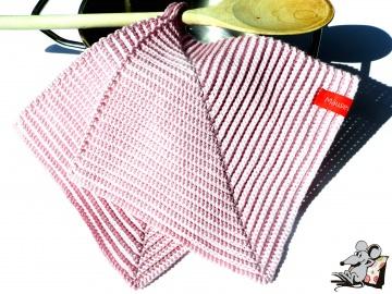 Topflappen gehäkelt (1 Paar) *rosa* 100% Baumwolle ♥Mäusewerkstatt♥