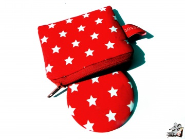 Taschenspiegel-Set *Sternchen* rot ♥Mäusewerkstatt♥  - Handarbeit kaufen