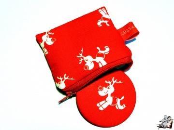 Taschenspiegel-Set *Rudi* rot ♥Mäusewerkstatt♥ - Handarbeit kaufen