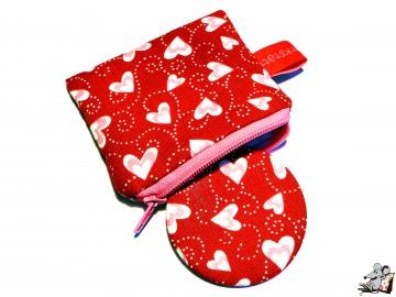 Taschenspiegel-Set *dancing hearts* ♥Mäusewerkstatt♥ - Handarbeit kaufen
