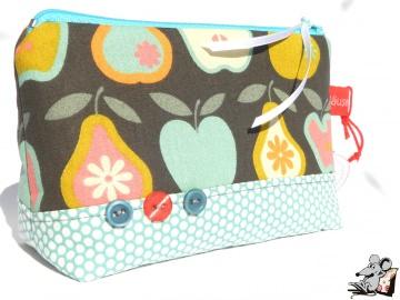Kosmetiktasche Gr. S *Äpfel und Birnen* ♥Mäusewerkstatt♥