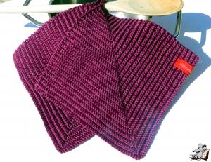 Topflappen gehäkelt (1 Paar) *burgund* 100% Baumwolle ♥Mäusewerkstatt♥