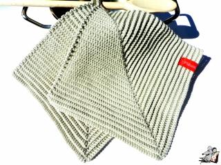 Topflappen gehäkelt (1 Paar) *leinen* 100% Baumwolle ♥Mäusewerkstatt♥