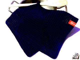 Topflappen gehäkelt (1 Paar) *marine* 100% Baumwolle ♥ Mäusewerkstatt ♥