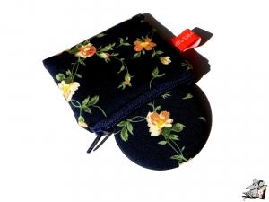 Taschenspiegel-Set *Blüten* dunkelblau ♥Mäusewerkstatt♥ - Handarbeit kaufen