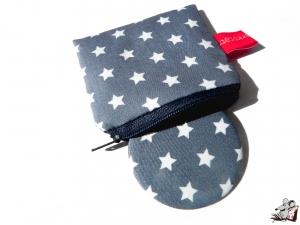 Taschenspiegel-Set *Sternchen* grau ♥Mäusewerkstatt♥