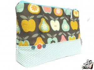 Kosmetiktasche Gr. XL *Äpfel und Birnen* ♥Mäusewerkstatt♥