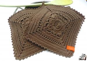 Topflappen gehäkelt (1 Paar) 2-lagig *granny willow* teddy 100% Baumwolle ♥Mäusewerkstatt♥ - Handarbeit kaufen