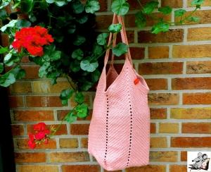 Markttasche Einkaufsbeutel Strandtasche *Zero Waste* gehäkelt *altrosa* 100% Baumwolle ♥Mäusewerkstatt♥