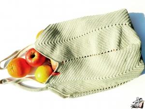 Markttasche Einkaufsbeutel Strandtasche *Zero Waste* gehäkelt *leinen* 100% Baumwolle ♥Mäusewerkstatt♥