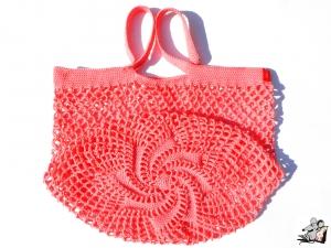 Einkaufsnetz *Stern* Markttasche Einkaufsbeutel Strandtasche *Zero Waste* gehäkelt *pink* 100% Baumwolle ♥Mäusewerkstatt♥