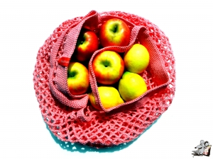 Einkaufsnetz *swirl* Markttasche Einkaufsbeutel Strandtasche *Zero Waste* gehäkelt *pink* 100% Baumwolle ♥Mäusewerkstatt♥