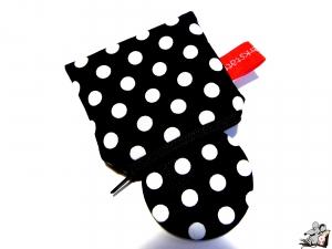 Taschenspiegel-Set *big dots* schwarz ♥Mäusewerkstatt♥ - Handarbeit kaufen