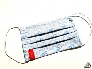 Behelfsmaske mit biegsamen Nasenteil waschbar 100% Baumwolle Gesichtsmaske *Paisley* hellblau ♥Mäusewerkstatt♥ - Handarbeit kaufen