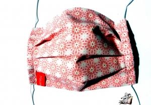 Behelfsmaske mit biegsamen Nasenteil waschbar 100% Baumwolle Gesichtsmaske *Kreise* rosa ♥Mäusewerkstatt♥ - Handarbeit kaufen