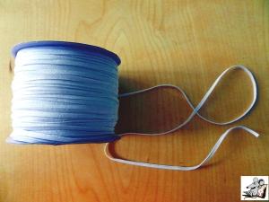 1m Gummiband 3mm weiß Grundpreis 1m = 0,50 Euro Gummilitze Gummiband Einziehgummi Maskengummi ♥Mäusewerkstatt♥ - Handarbeit kaufen