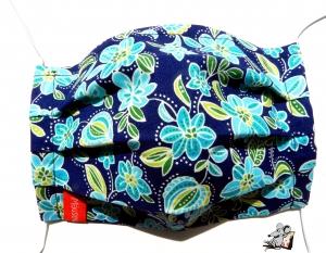 Behelfsmaske mit biegsamen Nasenteil waschbar 100% Baumwolle Gesichtsmaske *summer days* ♥Mäusewerkstatt♥ - Handarbeit kaufen